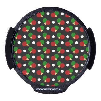 Black ping pong pattern LED car window decal