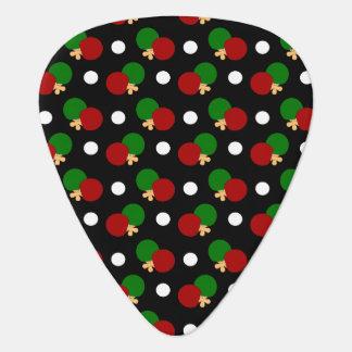 Black ping pong pattern pick