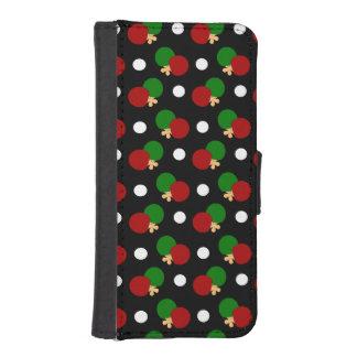 Black ping pong pattern iPhone 5 wallet