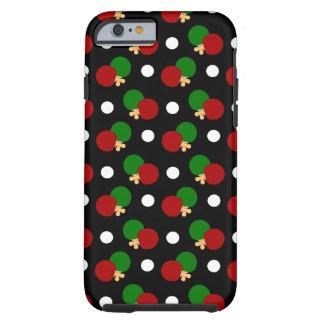 Black ping pong pattern tough iPhone 6 case