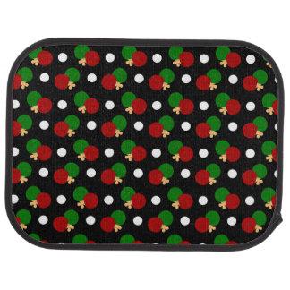 Black ping pong pattern car mat