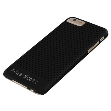 Halloween Themed Black Pinhole Carbon Fiber Graphite Polymer Barely There iPhone 6 Plus Case