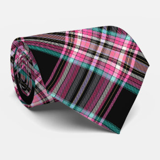 Black, Pink and Cyan Neck Tie