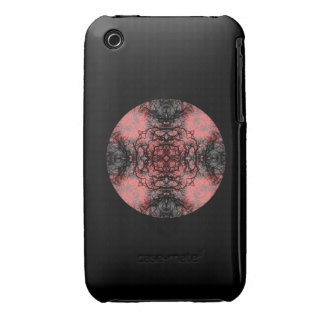Black, Pink and Gray Gothic Pattern. Case-Mate iPhone 3 Case