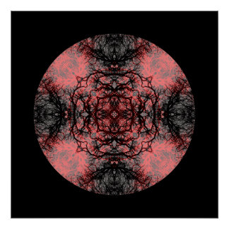 Black, Pink and Gray Gothic Pattern. Poster