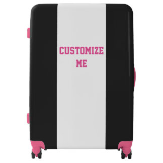 Black Pink and White Sporty Luggage