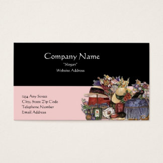 Black & Pink Antique/Vintage Design Business Card