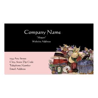 Black & Pink Antique/Vintage Design Business Card