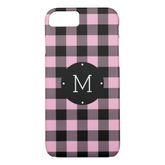 Cute iPhone Cases - Blush Pink and Gold Elegant Dots Monogram iPhone 8 Plus/7 Plus Case