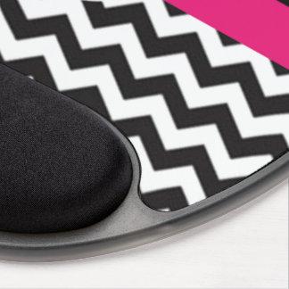 Black Pink Chevron Gel Mouse Pad