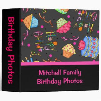 Black Pink Cupcakes Cake Custom Birthday Album Binder