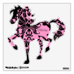 Black Pink Damask Horse Wall Decal Under the Sea