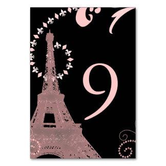 black pink eiffel tower vintage paris wedding card