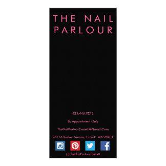 Black & Pink Glitter Typography Salon Menu Cards