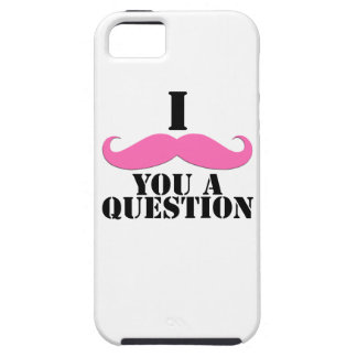 Black Pink I Moustache You A Question Fun iPhone 5 Cases
