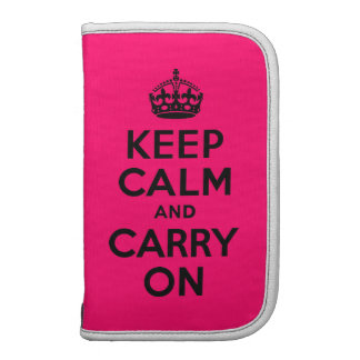 Black Pink Keep Calm and Carry On Planner