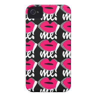 Black & Pink Kiss me iPhone 4/4S  Case-Mate Case