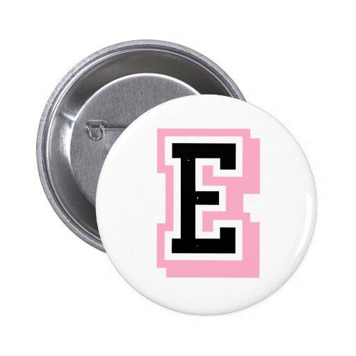 black pink letter E Pin