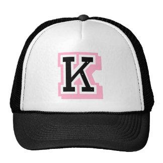 black pink letter K Trucker Hat