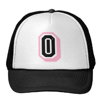 black pink letter O Trucker Hat