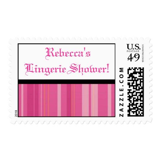 Black/Pink Lingerie Shower Stamps