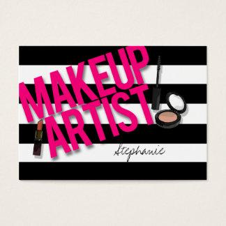 Black & Pink Makeup artist Business Card