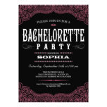 Black & Pink Paisley Bachelorette Party Invitation