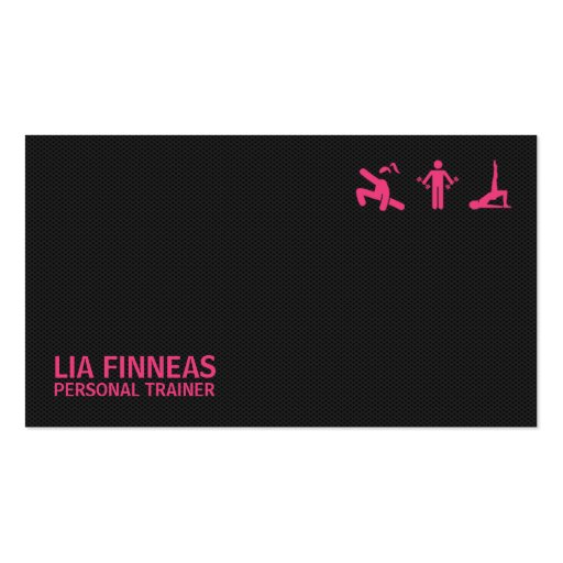 Black & Pink, Personal Trainer Business Card