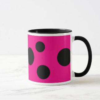 Black & Pink Polka Dot Mug