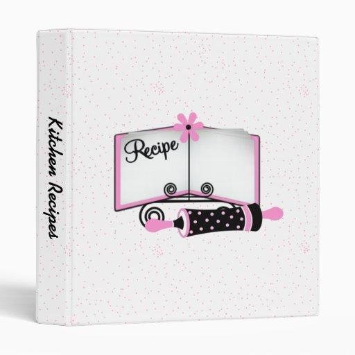 Black & Pink Polka Dot Recipe Binder