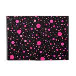 Black pink polka dots iPad mini covers
