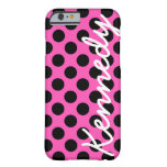 Black Pink Polka Dots iPhone 6 Case