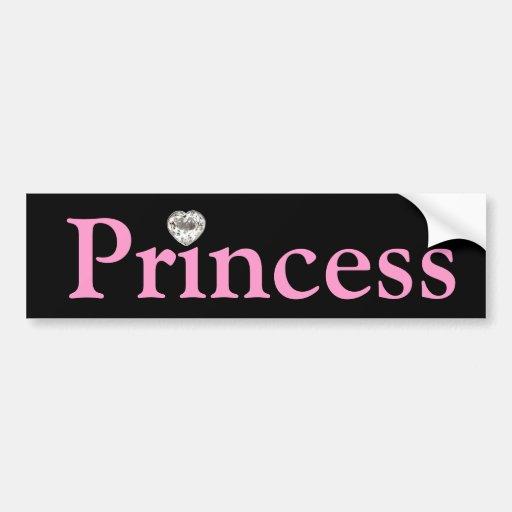 Black & Pink Princess Bumper sticker