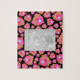 Black pink princess carriage puzzle