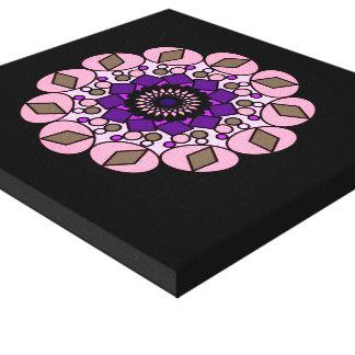 Black Pink Purple  Cosmic Geometric Wall Art