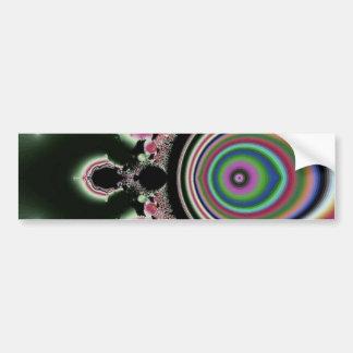 Black Pink Rainbow Fractal Jewels Bumper Sticker