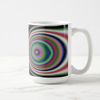 Black Pink Rainbow Fractal Jewels Coffee Mug