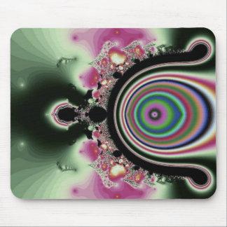 Black Pink Rainbow Fractal Jewels Mouse Pad