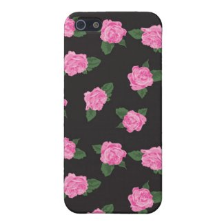 Black pink rose flowers shabby floral chic roses