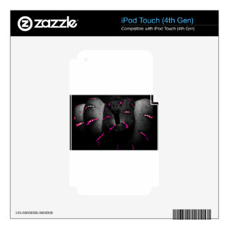 Black Pink Snake Decals For iPod Touch 4G