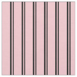 [ Thumbnail: Black & Pink Striped/Lined Pattern Fabric ]