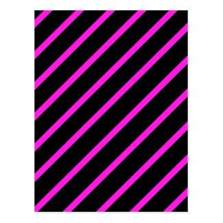 Black pink stripes postcard