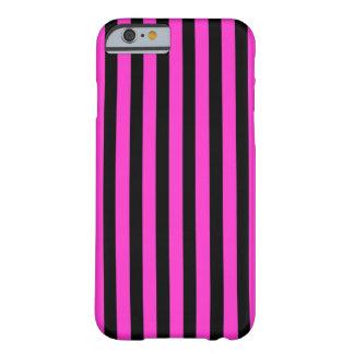 Black Pink Stripes vertical iPhone 6 case