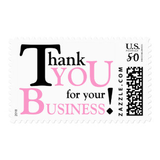 """Black & Pink """"Thank you for your Business"""" Postage"""
