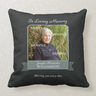 Black Pinstripe Memorial American MoJo Pillow throwpillow