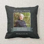 Black Pinstripe Memorial American MoJo Pillow