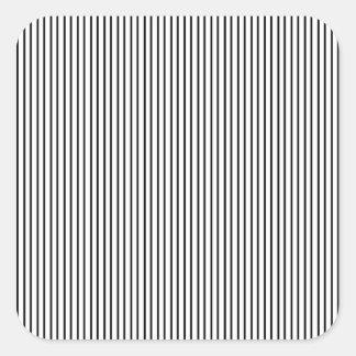 Black Pinstripe Square Sticker