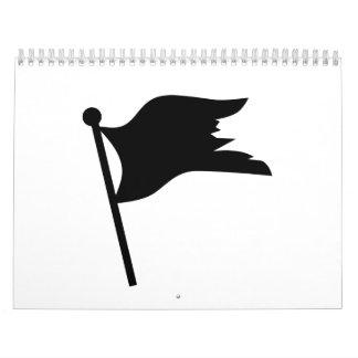Black pirate flag calendar