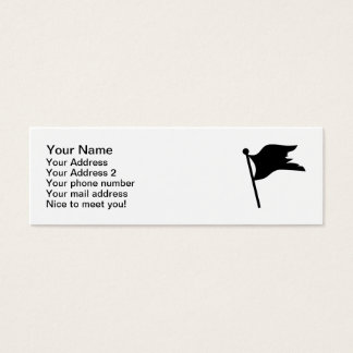 Black pirate flag mini business card