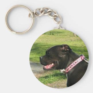 Black Pit Bull keychain
